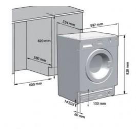 Lavadora carga frontal Beko WITV8712XW0R