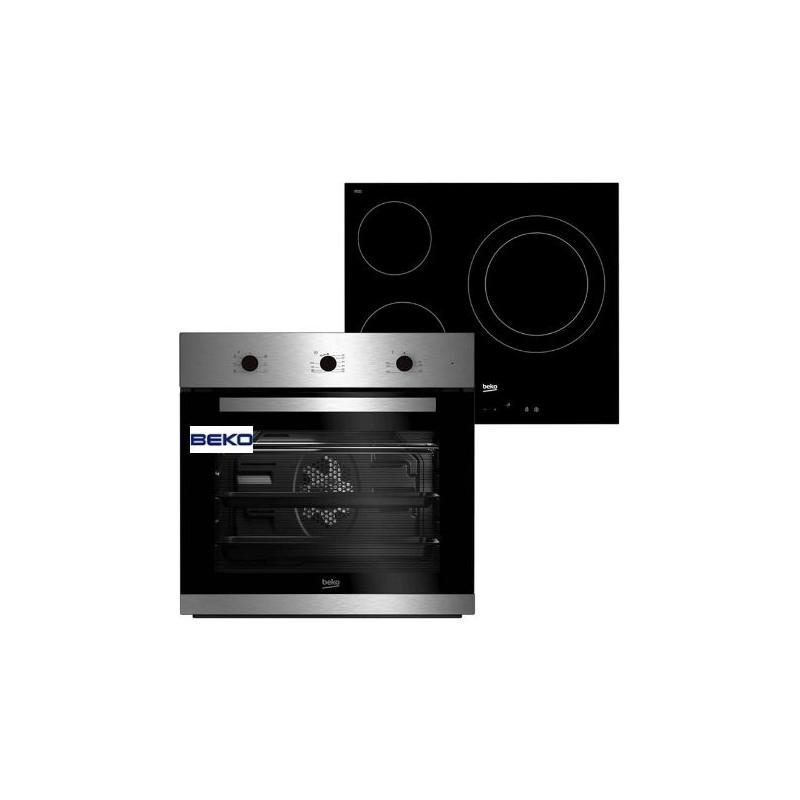 Comprar Horno Multifuncion + Placa Vitro 3f Beko BSE22121X